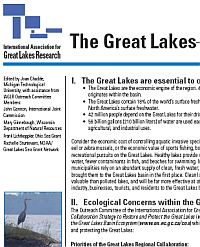New Fact Sheet on Great Lakes